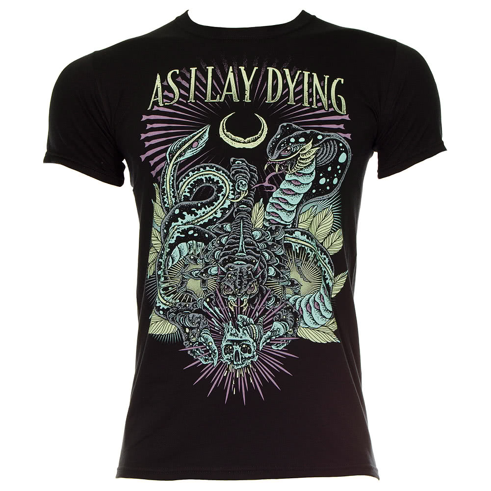 As I Lay Dying Snakes T Shirt (Black)