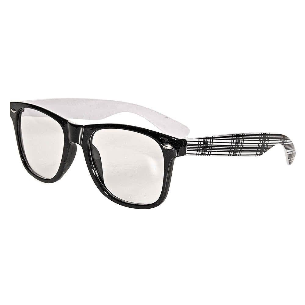 Blue Banana Geek Glasses (White/Black)