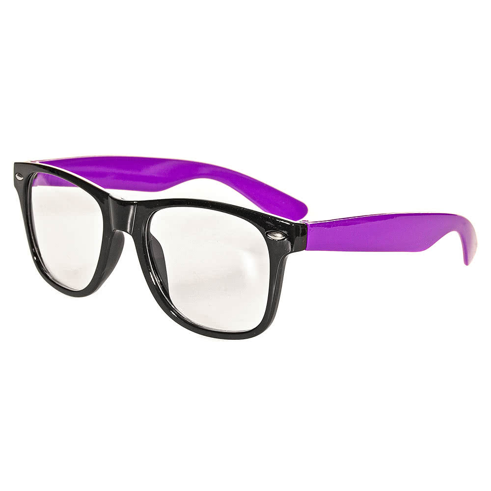 Blue Banana Geek Glasses (Purple/Black)