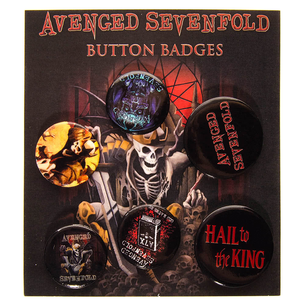 Avenged Sevenfold Hail King Badge Pack