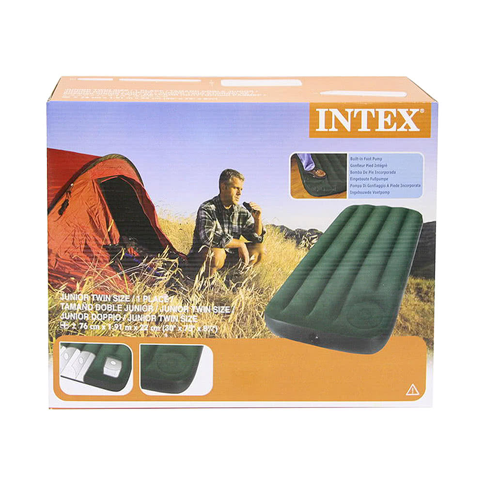 Intex Single Easy Inflate Air Bed (Green)