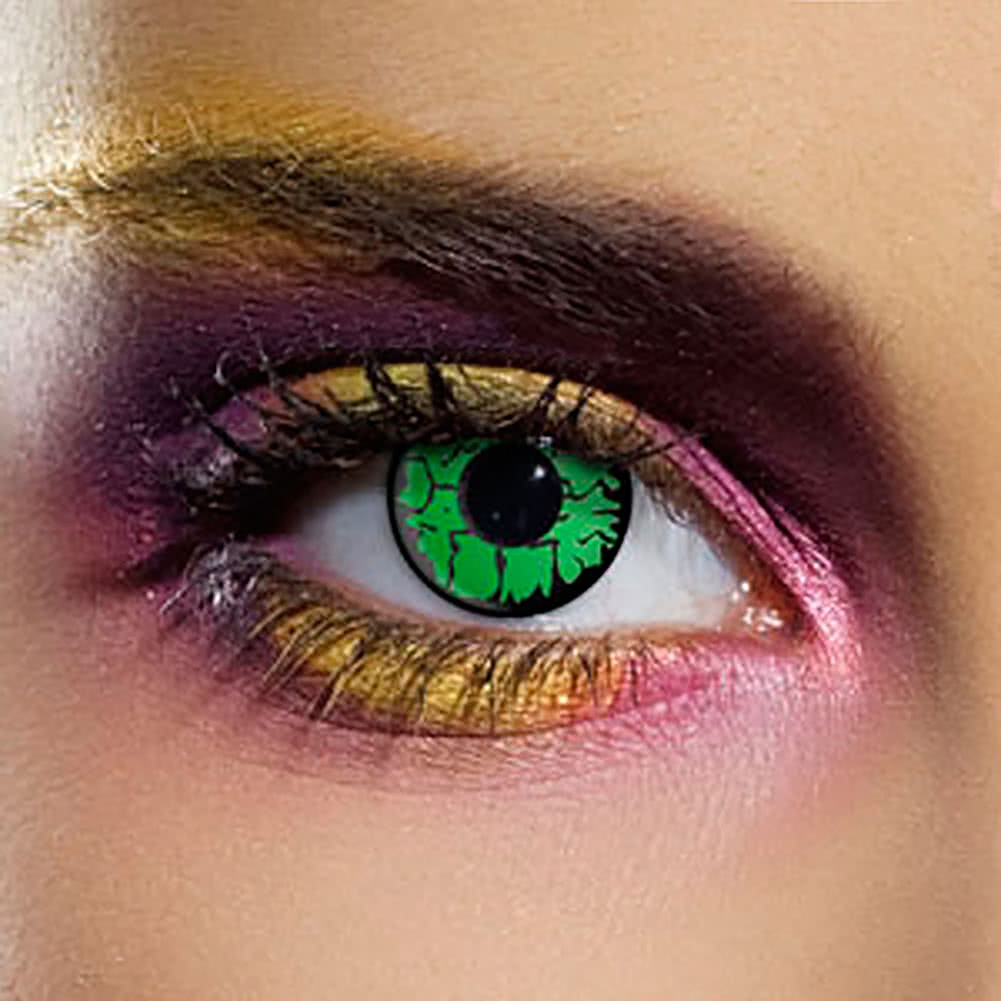 EDIT 90 Day Goblin Eye Coloured Contact Lenses (Green)