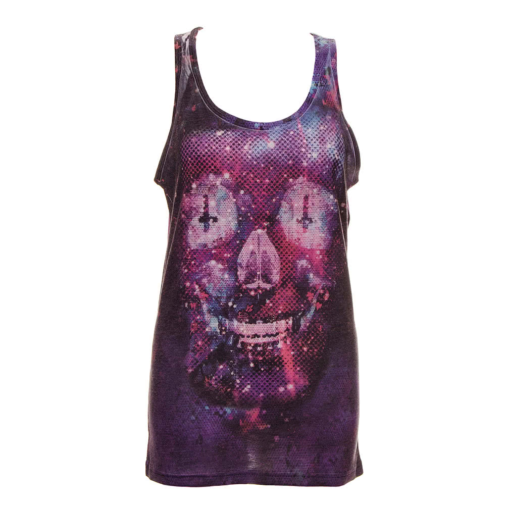 Cold Heart Pixelated Death Vest Top (Purple)