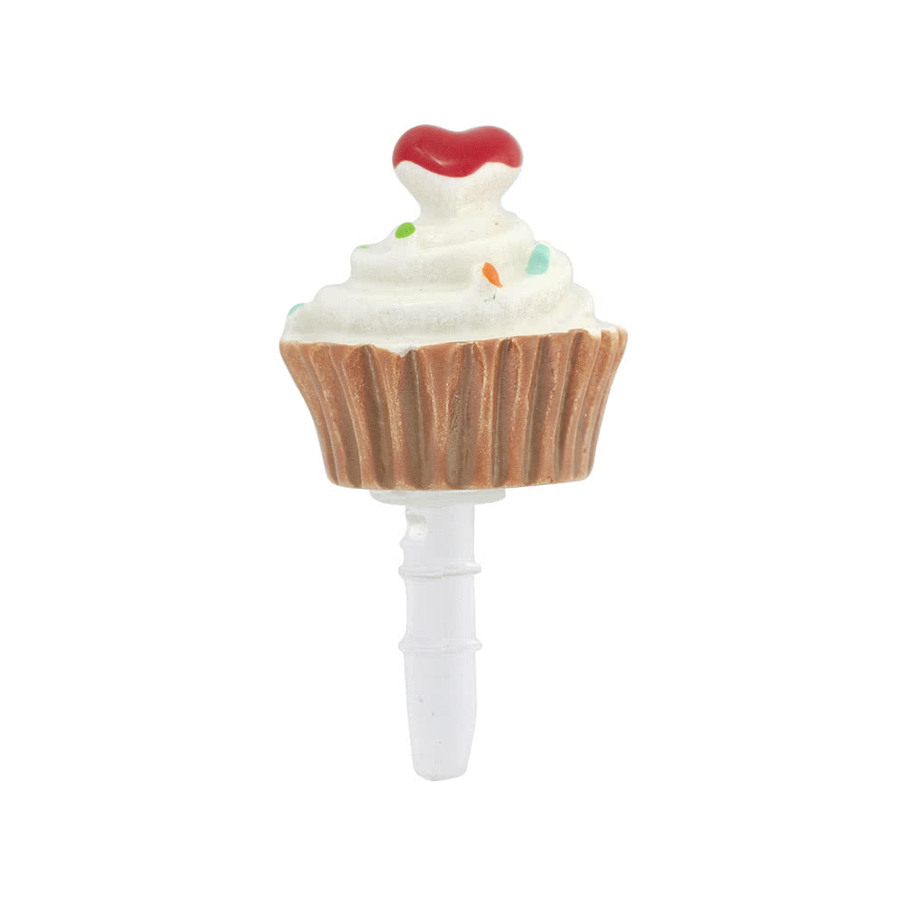 Blue Banana Cupcake Phone Charm (Multi-Coloured)