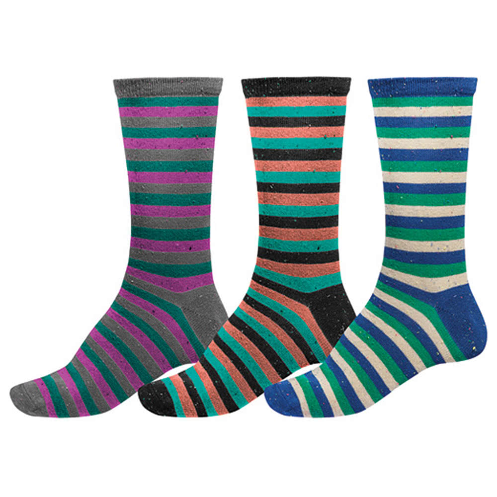 Globe Nep Stripe Socks 3PK (UK7 - UK11)