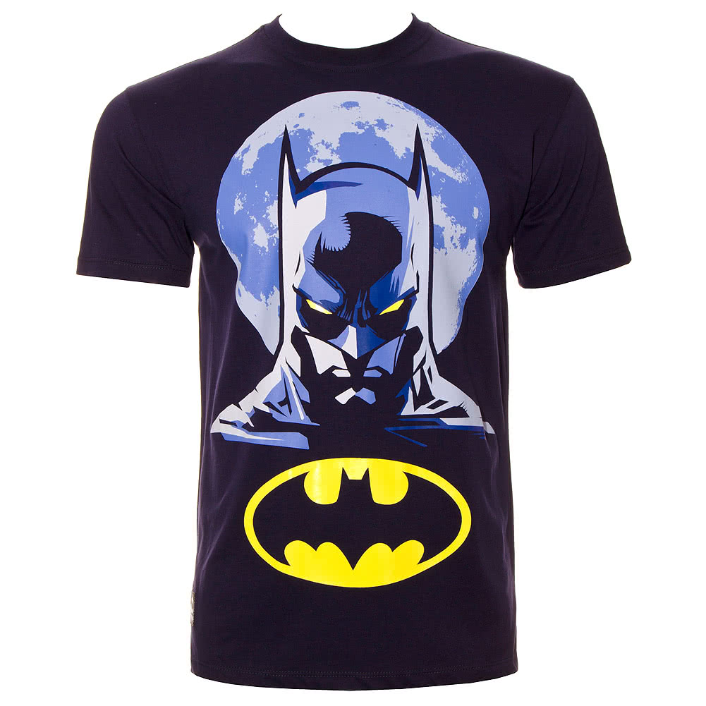 DC Comics Batman Full Moon T Shirt (Navy)