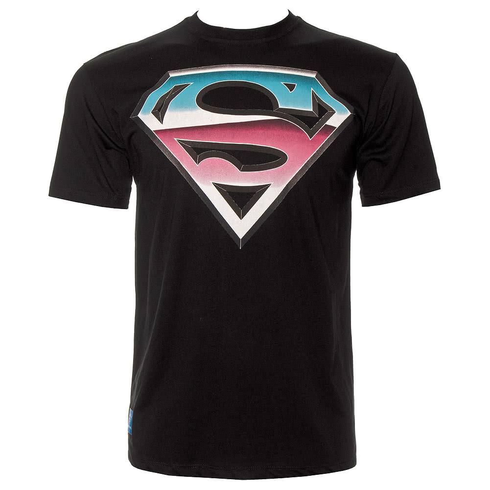 DC Comics Superman Chrome T Shirt (Black)