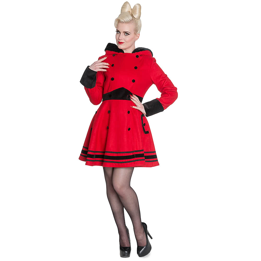 Hell Bunny Mikaela Coat (Red)