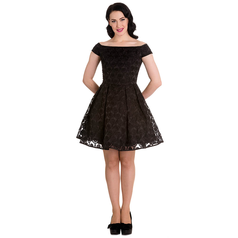 Hell Bunny Paris Dress (Black)