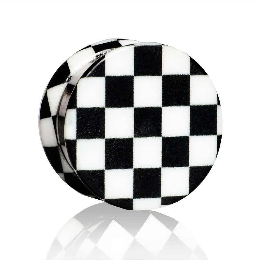Blue Banana Checkered Stash Plug (Black)