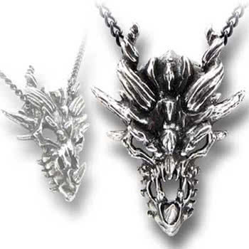 Alchemy Gothic Dragon Skull Necklace