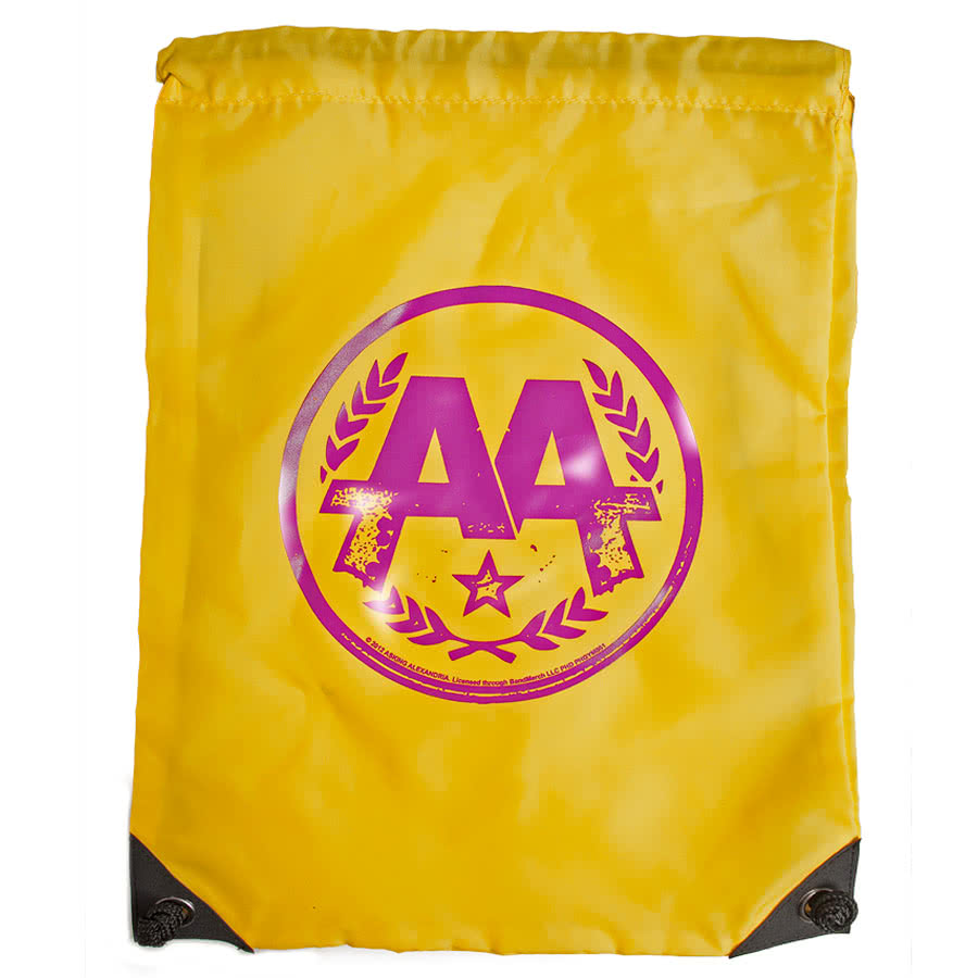 Asking Alexandria Circle Logo Gym Bag (Yellow)