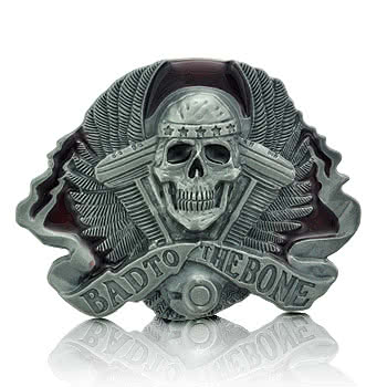 Blue Banana Bad To The Bone Belt Buckle (Grey)