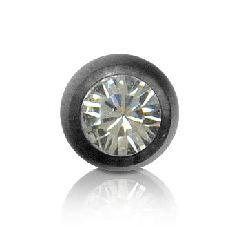 Black Titanium Jewelled 5mm Ball (Crystal)