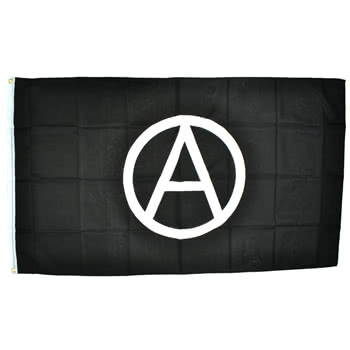 Blue Banana Anarchy 5x3 Flag (White)