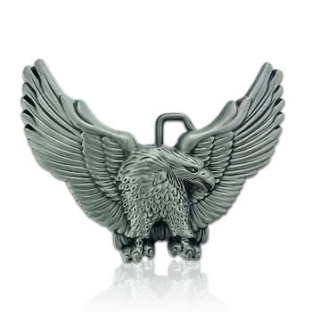 Blue Banana Eagle Belt Buckle (Grey)
