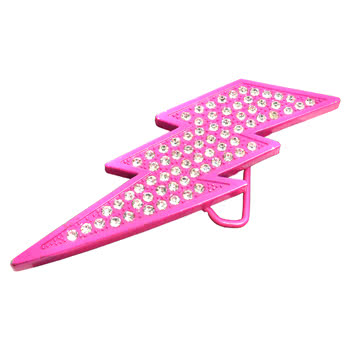 Blue Banana Lightning Crystal Belt Buckle (Pink)