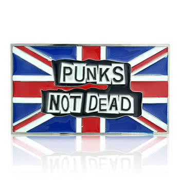 Blue Banana Punks Not Dead Belt Buckle (Blue/Red)