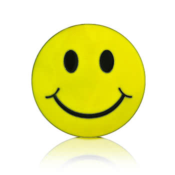 Blue Banana Smiley Belt Buckle (Yellow)