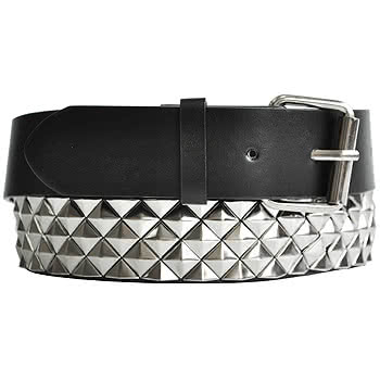 Blue Banana Triangle Studded Belt (Black/Silver)