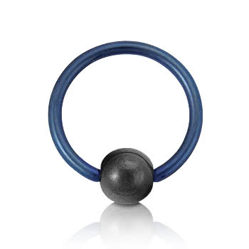 Coloured Titanium 1.2mm BCR (Blue)