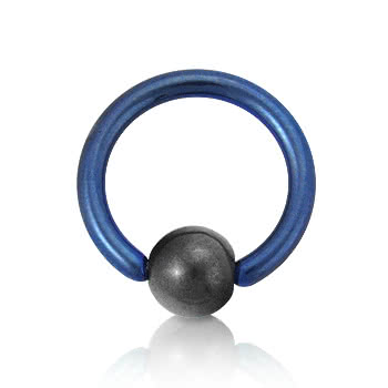 Coloured Titanium 1.6mm BCR (Blue)
