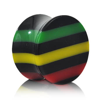 Blue Banana Coloured Stripes Plug (Multi-Coloured)