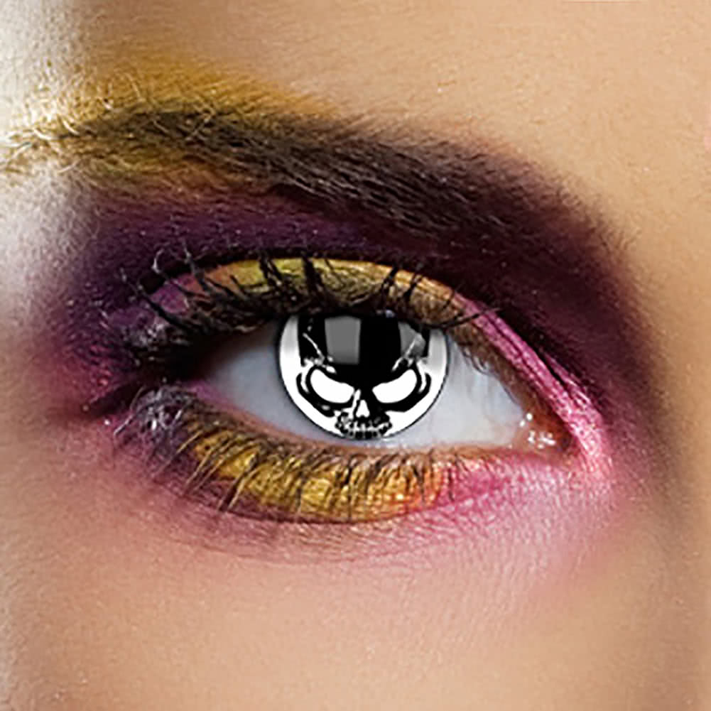 EDIT 1 Year Coloured Contact Lenses (Skull)