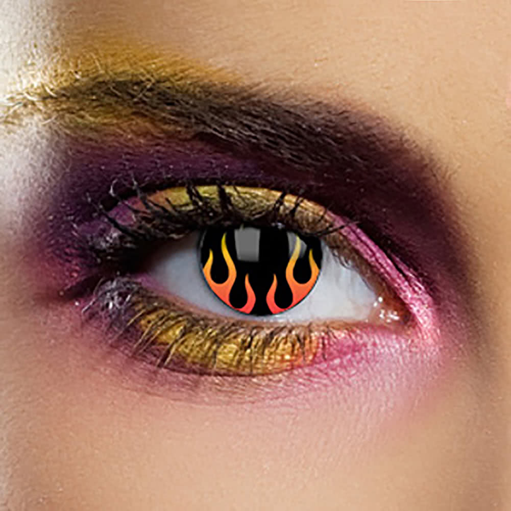 EDIT 1 Year Coloured Contact Lenses (Hells Flame)