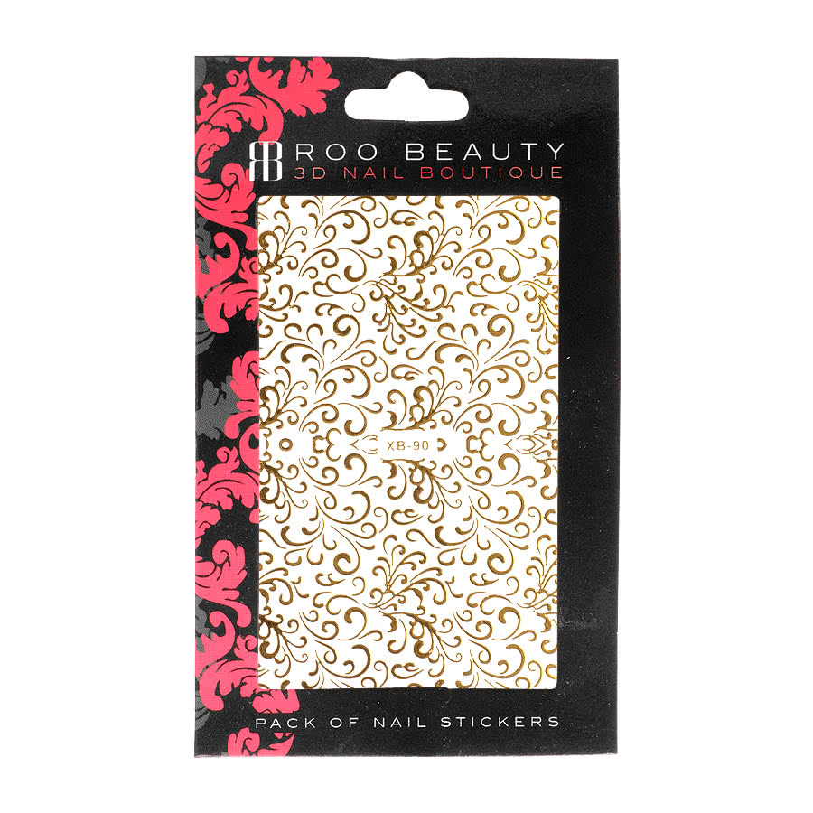 Nail Art Sheets XB-90 Swirls (Gold)