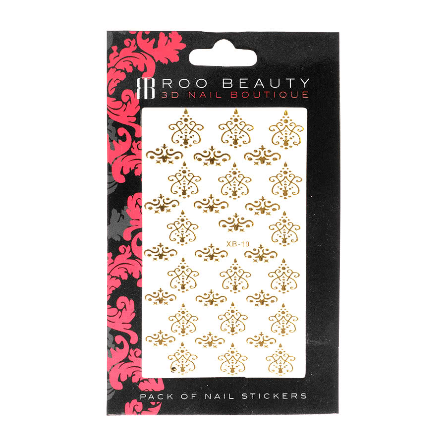 Nail Art Sheets XB-19 Lace (Gold)