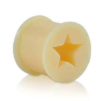 Blue Banana Silicone Star Flesh Tunnel (Flesh)