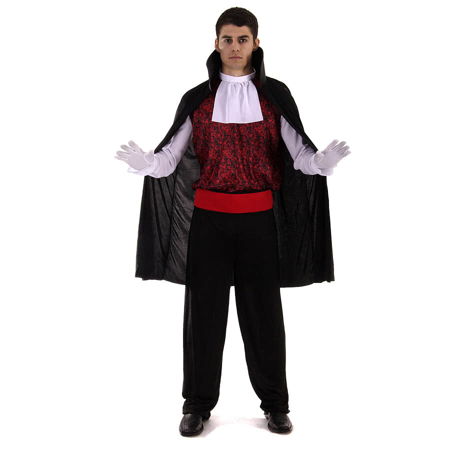 Vampire Fancy Dress Costume (Black)