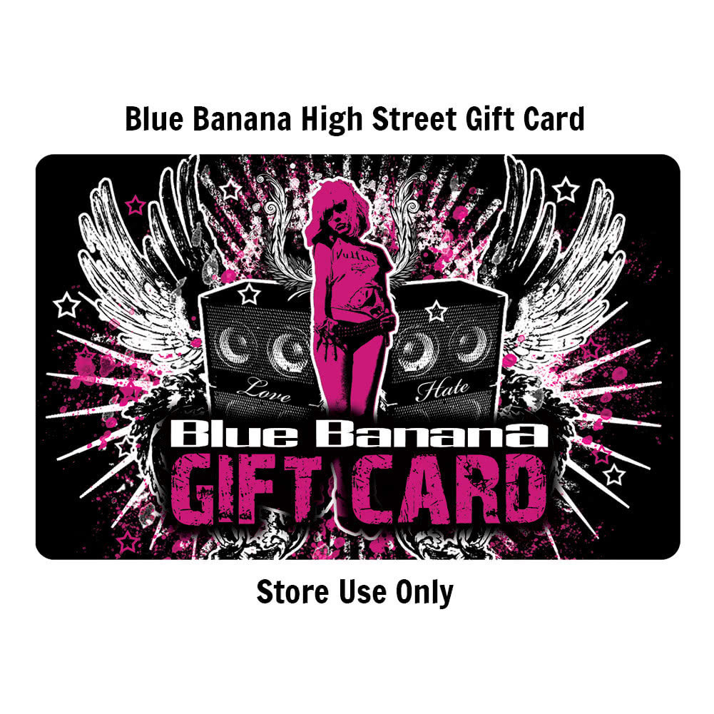 Blue Banana 100 Pound High Street STORE Gift Card (Cannot Be Used Online)