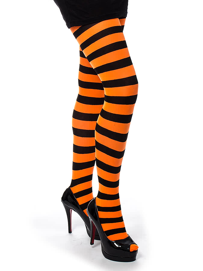 Pamela Mann Twickers Tights (Black/Fluorescent Orange)