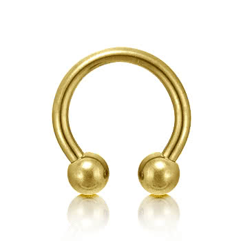 Plasma Gold 1.6mm Circular Barbell (Gold)