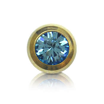 Plasma Gold Jewelled 5mm Ball (Aqua)
