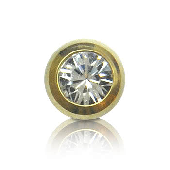 Plasma Gold Jewelled 5mm Ball (Crystal)