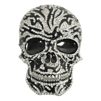 Blue Banana Sugar Skull Belt Buckle