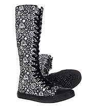 Bleeding Heart Canvas Occult Extra Tall Boots (Black)