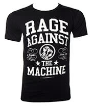 Rage Against The Machine Crown College T Shirt (Black/White)