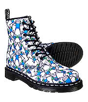 Dr Martens 1460 Adventure Time Finn Print Boots (Blue/White)