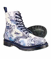 Dr Martens Pascal Willow Pattern Boots (Blue/W