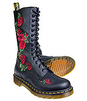 Dr Martens Vonda Boots (Black/Red)