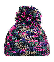 Blue Banana Knitted Pom Pom Hat (Pink)