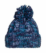 Blue Banana Knitted Pom Pom Hat (Blue)