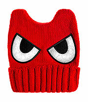 Blue Banana Eyes Knitted Hat (Red)