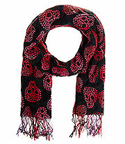 Blue Banana Skull Weave Scarf (Red)
