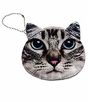 Blue Banana Cat Face Purse (Tabby)