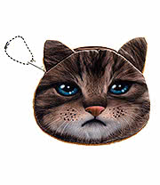 Blue Banana Cat Face Purse (Brown)